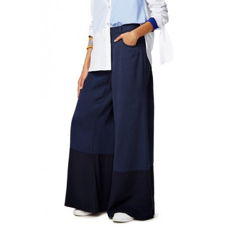 Desigual Navy Rosa Wide Leg Trousers