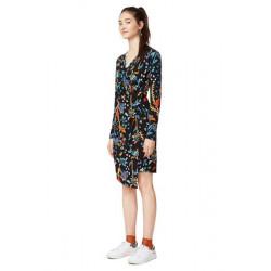Desigual Black/Multi Patterned Bridie Wrap Dress