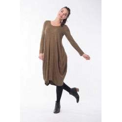 Orientique Olive Green Bubble Dress