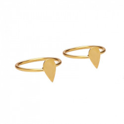 Ottoman Hands Teardrop Stacking Ring