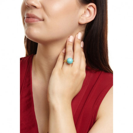 Ottoman Hands Turquoise Globe Cocktail Ring