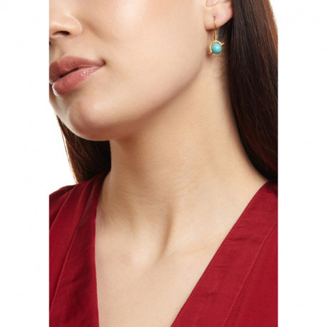 Ottoman Hands Turquoise Globe Earrings