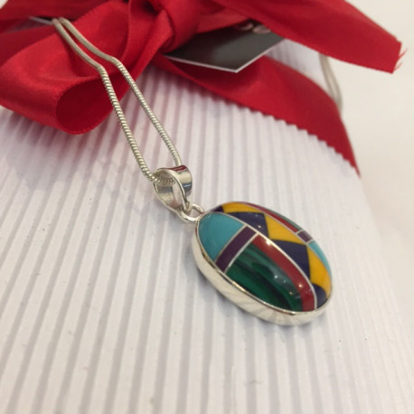 Zuni Style Pendant Necklace