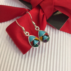 Small Zuni Style Dangle Earrings