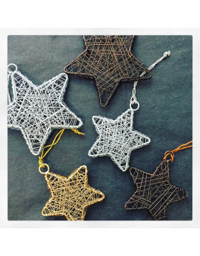 Large Wire Star Decorations