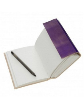 3 String Leather Journal - Purple