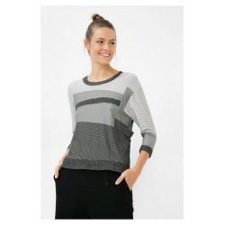 Desigual Grey Geometric Patterned T-Shirt Three