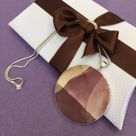 Circular Mookaite Necklace