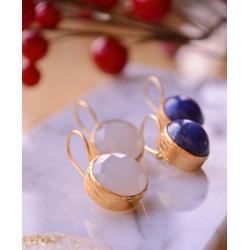 Ottoman Hands Chalcedony Earrings