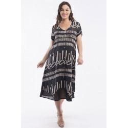 Orientique Sanganer layered Dress