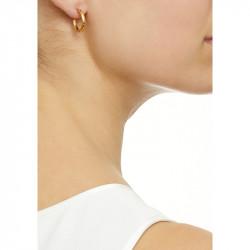 Ottoman Hands Textured Gold Hoop Earrings