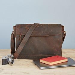 Fairtrade Buffalo Leather Executive Briefcase/Messanger Bag