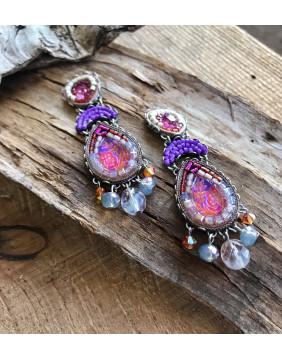 Ayala Bar Deep Fuchsia Earrings (Large)