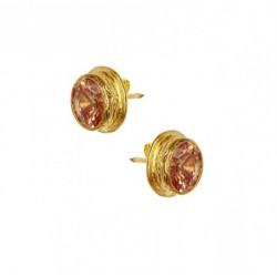 Ottoman Hands Orange Crystal Stud Earrings